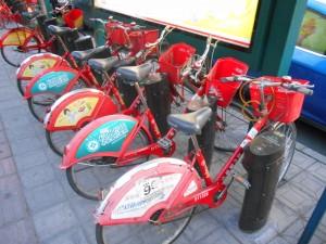 Het openbare fietsenplan. Dit is een halte waar je fietsen kunt ophalen of inleveren,